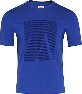 Armani Blue Print T Shirt - M - Blue