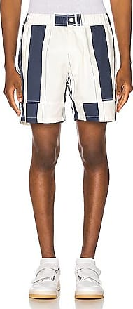 Jacquemus Striped Shorts in Blue,Stripes,White