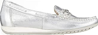 Caprice Womens Inoxy Loafers, Multicolour (Silver Deer 951), 7.5 UK