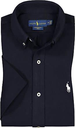 Polo Ralph Lauren Kurzarmhemd in Piqué-Optik von Polo Ralph Lauren in Marine für Herren