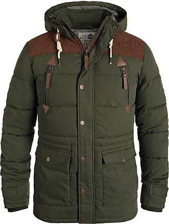 Solid Dry Jacket Long Mens Winter Jacket, Size:L, Colour:Ivy Green (3797)