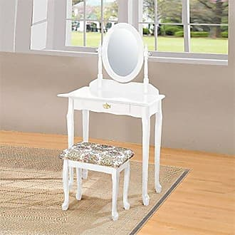 ACME 02337WH Queen Anne Vanity Set, White