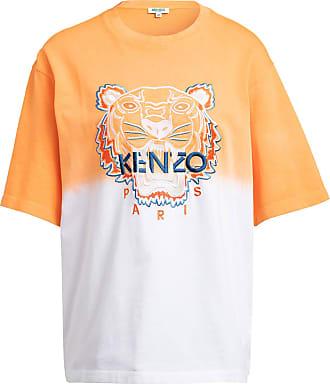 Kenzo Oversized-Shirt TIGER - ORANGE/ WEISS