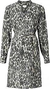 YaYa Midi-Kleid mit Gürtel und Rüschenkragen - 36 / Dark Sage