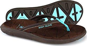 Body Glove Womens Quest Sandal, Coffee Bean/neon Blue, 9 M US
