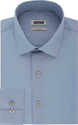 Unlisted by Kenneth Cole Mens Dress Shirt Regular Fit Solid, Cadet Blue, 17-17.5 Neck 36-37 Sleeve (X-Large)
