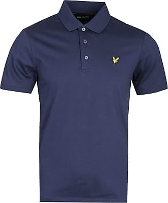 Lyle & Scott Lyle and Scott Mens Mercerised Polo Shirt - Cotton - S Navy