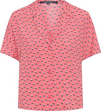 Shoulder Camisa Ampla Crepe - Rosa