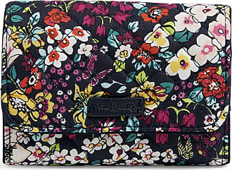 Vera Bradley Womens Signature Cotton RFID Riley Compact Wallet, Itsy Ditsy, One Size