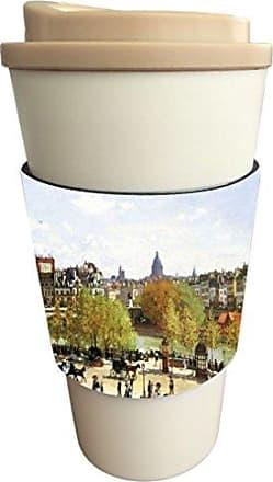 Rikki Knight Claude Monet Art Le Quai Du Louvre Design Latte Beverage Insulator, Black