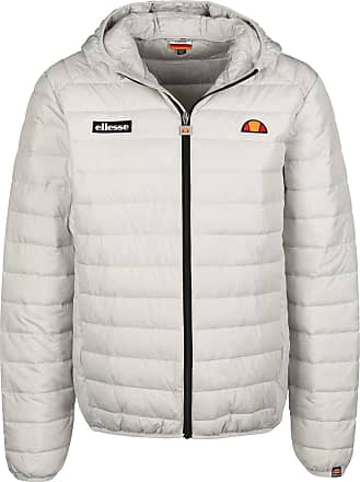 Ellesse SHS01115 Lombardy Padded Zip Hooded Light Grey Jacket L