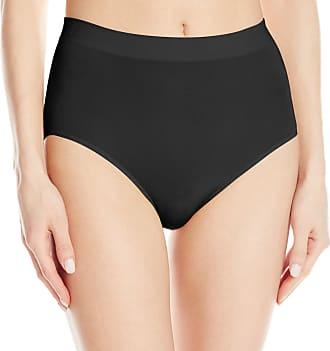 Wacoal Womens B-Smooth Brief Panty, Black, Medium