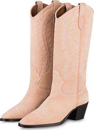 PARIS TEXAS Cowboy Boots - NUDE