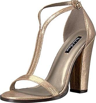 b13cd7b9d560 Michael Antonio Womens Jons-met Dress Sandal Gold 8.5 M US