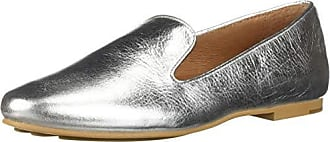 Gentle Souls by Kenneth Cole Womens Eugene Flat Loafer Shoe, silver, 8 M US