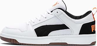 Puma Rebound Lay-Up Lo Mesh Sneaker Schuhe Für Herren | Mit Aucun | Orange/Schwarz/Weiß | Größe: 40.5