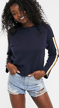 Urban Bliss whinnie jumper with side stripe-Navy