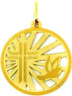 Prado Joias Pingente Em Ouro 18k Batismo Batizado