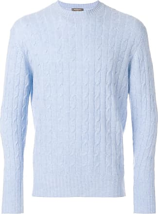 N.Peal Thames cable knit sweater - Blue