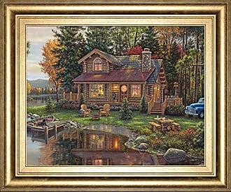 Classy Art Peace Like A River Cabin by Kim NORLIEN