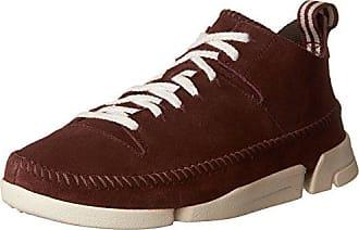Clarks Mens Trigenic Flex Fashion Sneakers, Burgundy Suede, 11.5 M US