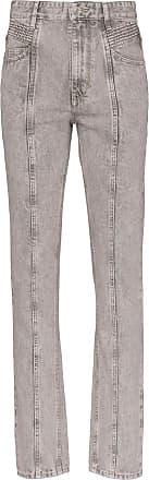Isabel Marant Calça jeans cintura alta Holly - Cinza