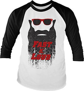 Gas Monkey Garage Officially Licensed Fast N Loud Kaufman Beard Baseball Long Sleeve T-Shirt (White-Black), XXL