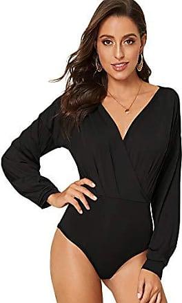 DIDK Damen Bodysuit /Ärmellos Rundkragen Cut Out Body Durchsichtiges Netz mit Spitzen Applikationen