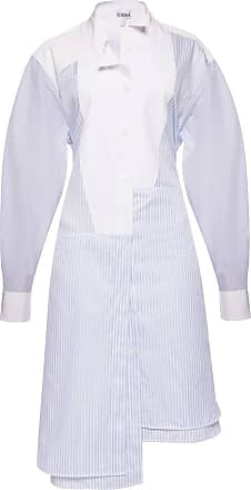 Loewe Striped Dress Womens Light Blue