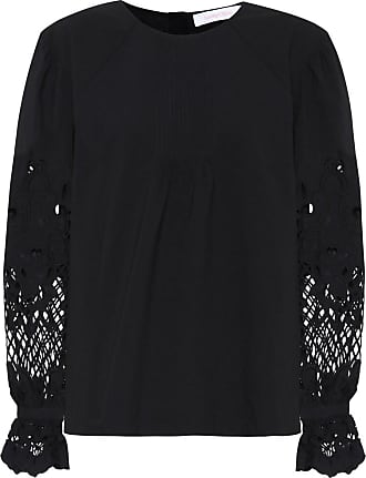 See By Chloé Lace-trimmed cotton blouse