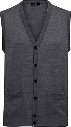 Peter Hahn Knitted waistcoat in 100% new milled wool Peter Hahn grey