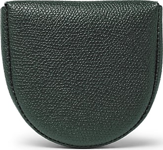 Valextra Pebble-grain Leather Coin Wallet - Green
