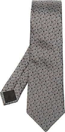 Lanvin Silk Tie Mens Grey