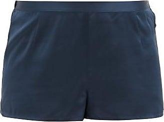La Perla Silk-satin Pyjama Shorts - Womens - Dark Blue