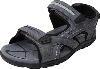 e5307dcacee Geox Mens Uomo Sandal Strada D Ankle Strap, (Stone/Lt Grey) 11