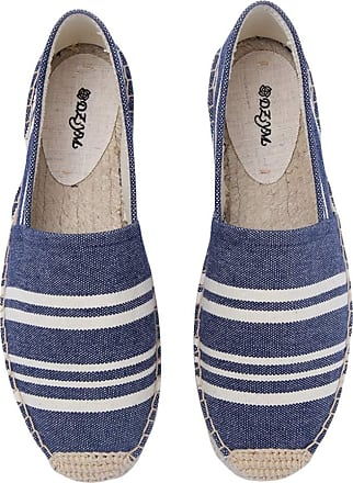 ICEGREY Womens Causal Loafer Flat Slip On Espadrille Blue Strips UK 3.5