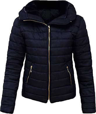 Parsa Fashions Malaika Ladies Quilted Padded Puffer Bubble Fur Collar Warm Thick Womens Jacket Coat - Avaiable in PLUS SIZES (Extra Small to XXL) (XXXXX-Large, Navy)