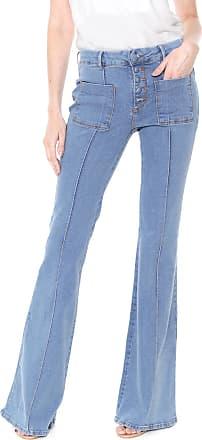 Enna Calça Jeans Enna Flare Botões Azul