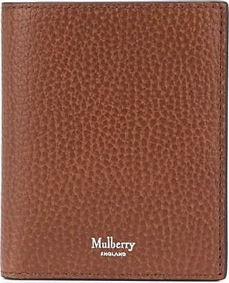 Mulberry logo-stamp tri-fold wallet - Marrom