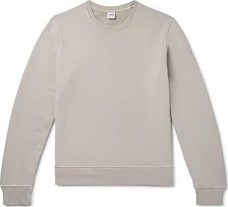 Aspesi Garment-dyed Loopback Cotton-jersey Sweatshirt - Gray