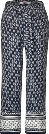 Cecil Wide Leg Hose mit Muster - deep blue