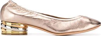 Casadei Sapato com salto Trio - Dourado