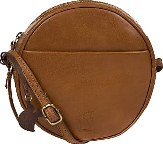 Pure Luxuries London Conkca London Rolla Womens 20cm Biodegradable Leather Cross Body with Unique Circular Design, Zip Round Top, 100% Cotton Lining and Adjustable Leather