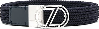 Ermenegildo Zegna logo buckle belt - Blue