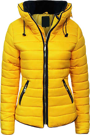 Parsa Fashions Malaika Ladies Quilted Padded Puffer Bubble Fur Collar Warm Thick Womens Jacket Coat - Avaiable in PLUS SIZES (Extra Small to XXL)