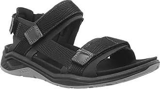 Ecco Mens X-Trinsic Sandal Black Textile, 41 M EU (7-7.5 US)