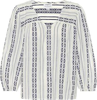 Velvet Winter striped cotton blouse