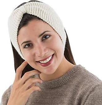 Novica 100% alpaca headband, Ivory Bow