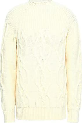 53d6a9a4c4 Lanvin Lanvin Woman Cable-knit Wool Sweater Ivory Size XL