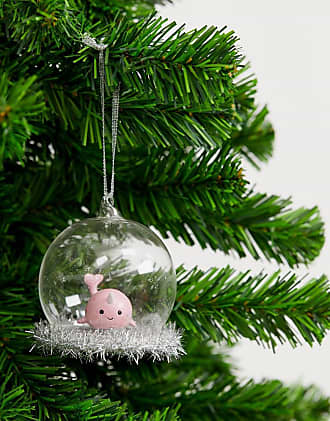 Sass & Belle pink narwhal Christmas dome bauble-Multi